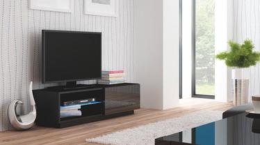 Televizoriaus staliukas Livo RTV 120S juodas, 120 x 40 x 38 cm
