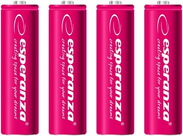 Esperanza Rechargaeble Batteries 4x AA 2000mAh Red