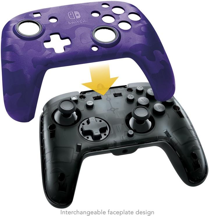 Игровой контроллер PDP Faceoff Deluxe+ Camo Purple