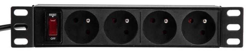 Netrack Power Strip 4 Outlet Black 1.8m