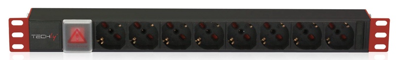 Techly PDU for 19 Rack 8 Schuko Sockets with Switch 1HE