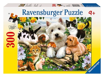 Dėlionė Ravensburger Happy Animal Buddies 13160, 300 dalių