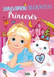 Knyga Spalvinimo bloknotas. Princesės. Su lipdukais