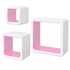 Полка VLX Cube 242173, белый/розовый, 23 см x 10 см x 23 см