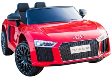 Bezvadu automašīna Azeno Audi R8, melna/sarkana