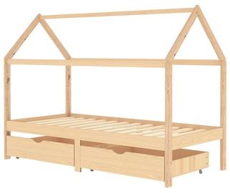 Детская кровать VLX Solid Pinewood 322138, сосновый, 200x90 см