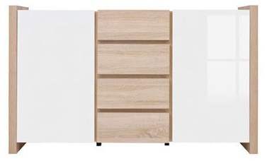 Black Red White Chest Of Drawers Venom Mix White/Sonoma Oak