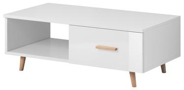 Kafijas galdiņš Vivaldi Meble Sweden, balta, 1100x600x400 mm