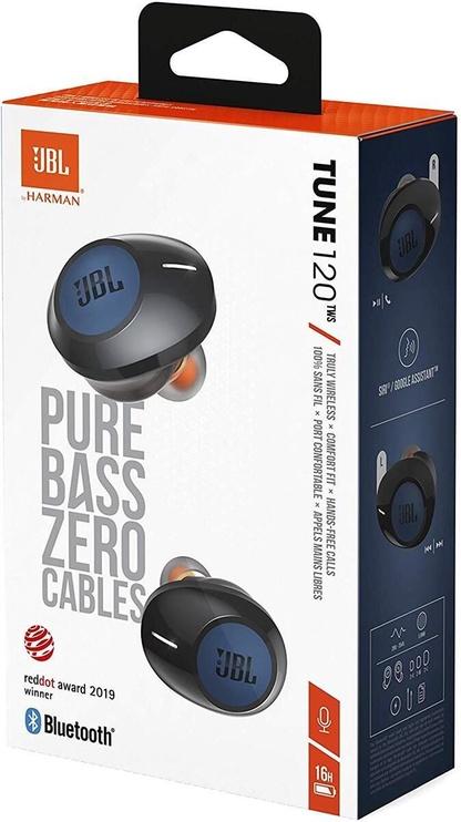 Ausinės JBL Tune 120TWS Blue, belaidės