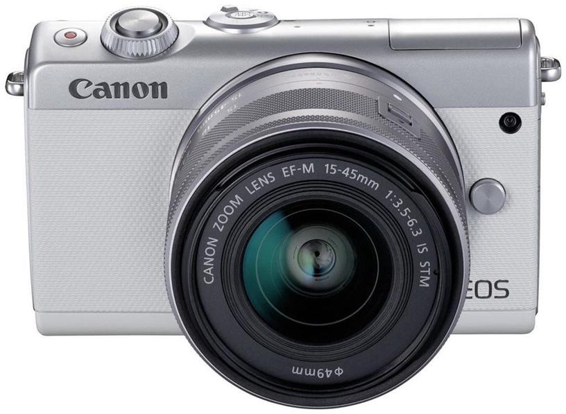 Canon EOS M100 BK M15-45 S + IRISTA EU18 Kit White