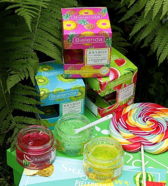 Bielenda Juicy Jelly Mask Kiwi & Cactus 2 In 1 Cleansing Mask + Peeling 50g
