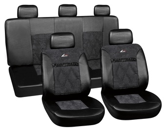 Autoserio Seat Cover Set AG-28680/1 8pcs Black