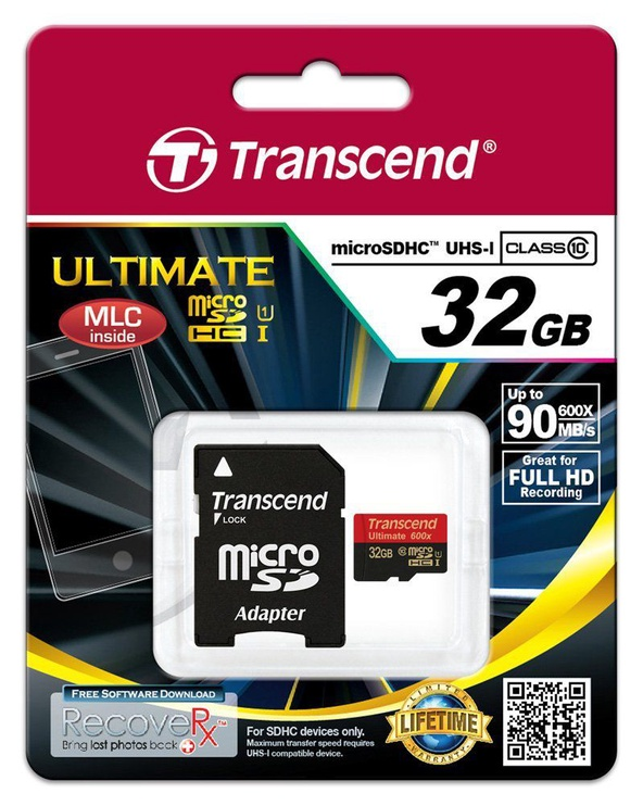 Transcend 32GB Micro SDHC Ultimate UHS-I 600x Class 10
