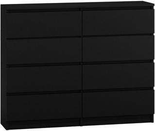 Top E Shop Malwa M8 Chest of 8 Drawers 120cm Black