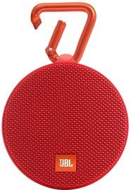 Belaidė kolonėlė JBL Clip 2 Bluetooth Speaker Red