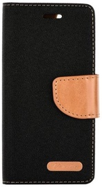 Forcell Canvas Flexi Flip Book Case For Sony Xperia L1 Black