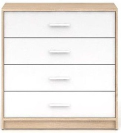 Black Red White Nepo Plus Drawer Sonoma Oak/White