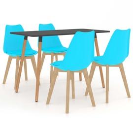Обеденный комплект VLX 5 Piece Set 3056033, синий/серый
