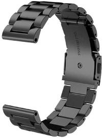 Tellur Metallic Watch Strap For Samsung Watch 42mm-20mm Black