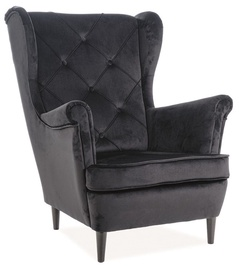 Fotelis Signal Meble Lady Velvet Black, 75x85x101 cm