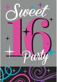 Amscan Sweet 16 Invitations & Envelopes 481466