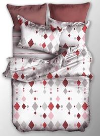 Gultas veļas komplekts DecoKing Basic, balta/sarkana/pelēka, 135x200/80x80 cm