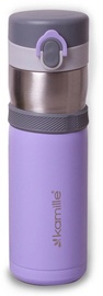 Kamille Vacuum Flask 400ml Purple KM2014