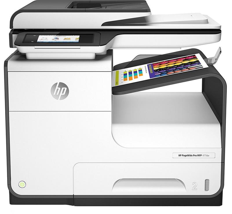 Многофункциональный принтер HP PageWide Pro 477dw, струйный, цветной