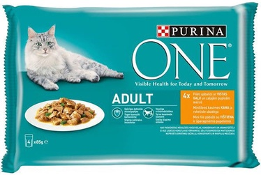 Purina ONE Adult Chicken And Green Beans 4x85g