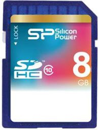 Silicon Power 8GB SDHC CARD CLASS 10