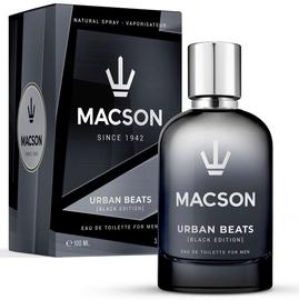 Tualetes ūdens Macson Urban Beats Black Edition EDT, 100 ml