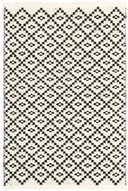 Ковер 4Living Dhurrie Huurre White/Black, белый/черный, 160x230 см