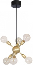 Luminex Magnus 6731 Ceiling Lamp 6x60W E27 Black/Brass