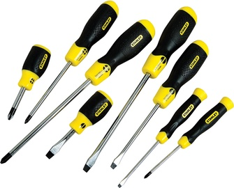 Stanley 0-65-011 CushionGrip Flared & Phillips Screwdriver Set 8pcs