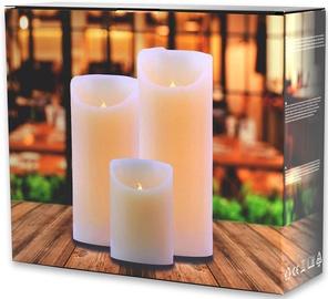 DecoKing Wax LED Candle Set 3pcs