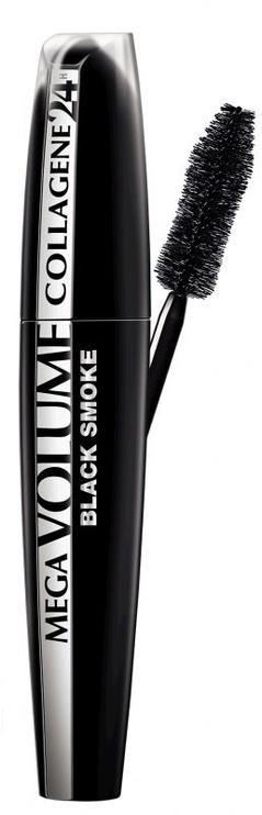 Skropstu tuša L´Oreal Paris Mega Volume Collagene 24h Black, 9 ml