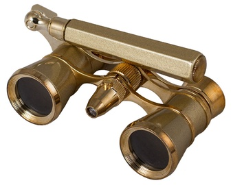 Levenhuk Broadway 325N Opera Glasses Gold Lorgnette