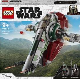 Конструктор LEGO Star Wars Звездолет Бобы Фетта 75312, 593 шт.