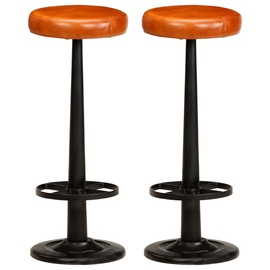 Bāra krēsls VLX Leather 286243, brūna/melna, 2 gab.