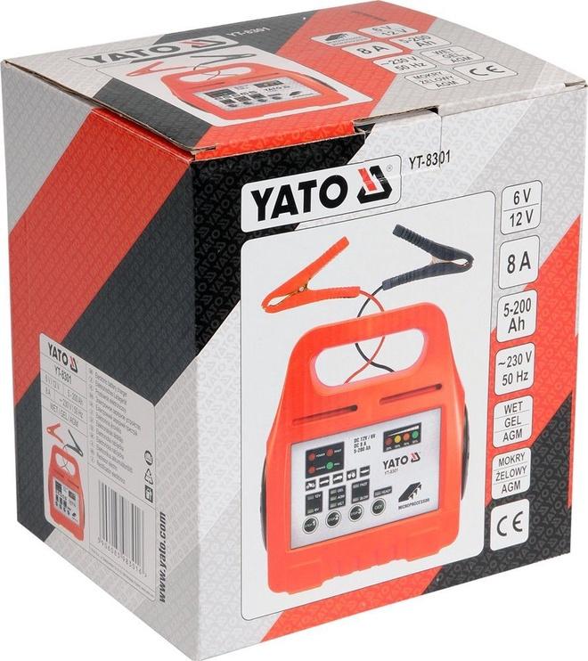 Зарядное устройство Yato, 12 В, 8 а