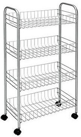 Metaltex Pisa Rolling Cart 4 Shelves 41x23x84cm