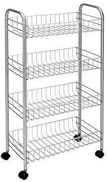 Serveerimiskäru Metaltex Pisa Rolling Cart 4 Shelves 41x23x84cm