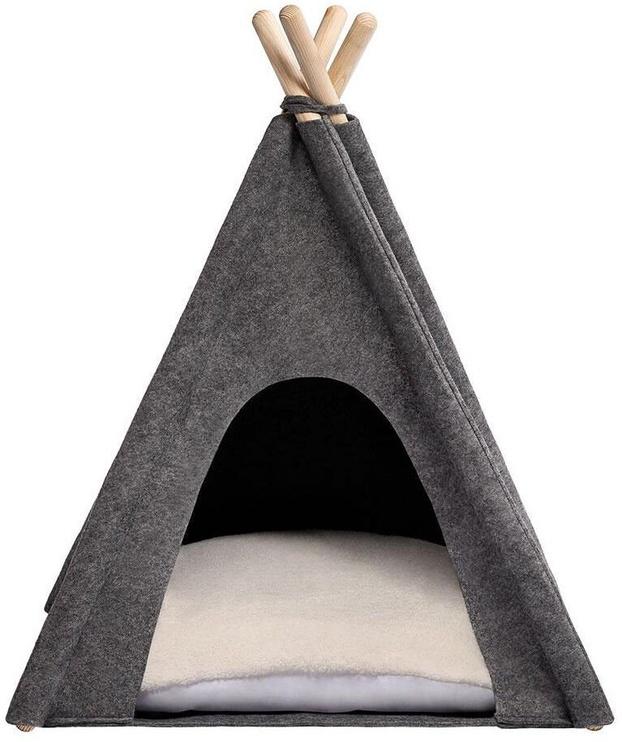 Кровать для животных Myanimaly Tipi M, белый/серый, 800x800 мм