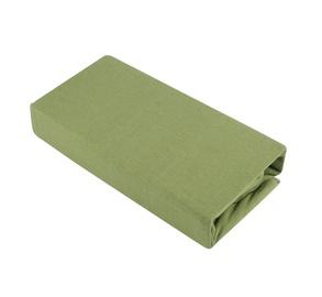 Paklodė Domoletti Jersey green, su guma, trikotažinė, 200 x 90 cm