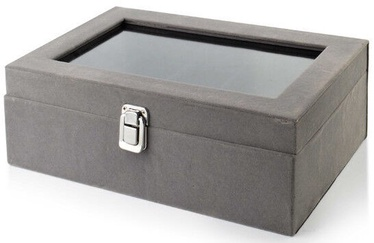 Mondex Laura Jewelry Box Gray 27.5x18.5x10cm