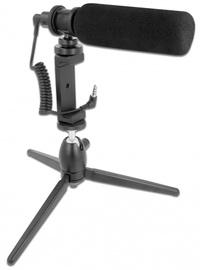 Микрофон Delock Vlog Shotgun, черный