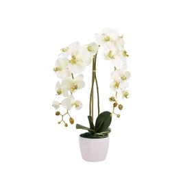 Valge kunstlill orhidee 60x15x15cm