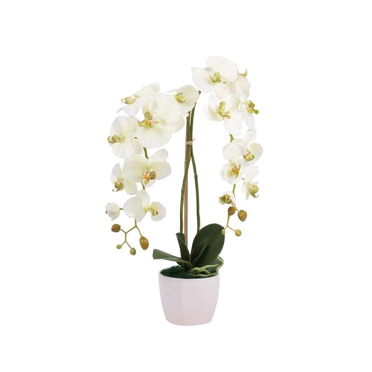 Artificial Orchid Flower Pot 60x15x15cm