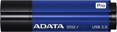 USB atmintinė ADATA S102 Pro Titanium Blue, USB 3.0, 64 GB