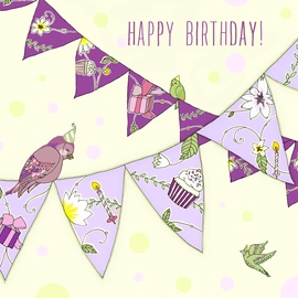Clear Creations Birthday Bunting Card CL1907